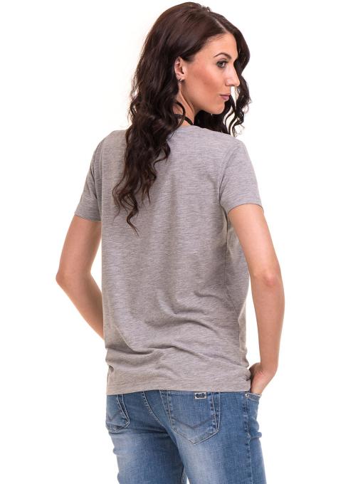 Дамска тениска с щампа VIGOSS 11184 - светло сива B