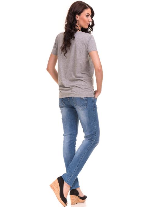 Дамска тениска с щампа VIGOSS 11184 - светло сива E