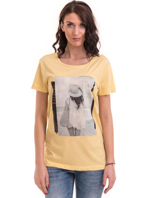 Дамска тениска с щампа VIGOSS 11184 - жълта