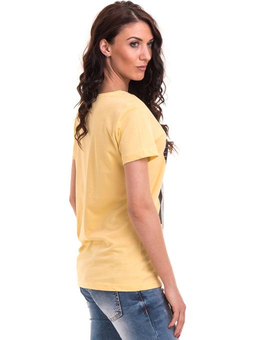 Дамска тениска с щампа VIGOSS 11184 - жълта B