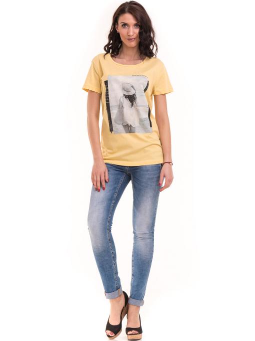 Дамска тениска с щампа VIGOSS 11184 - жълта C