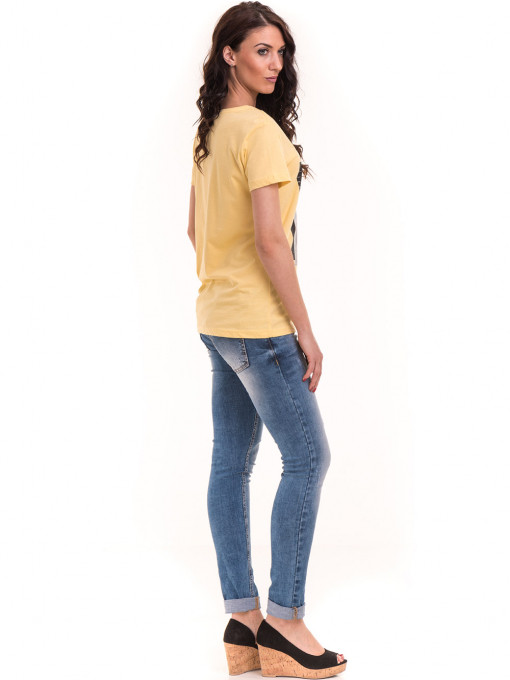 Дамска тениска с щампа VIGOSS 11184 - жълт E