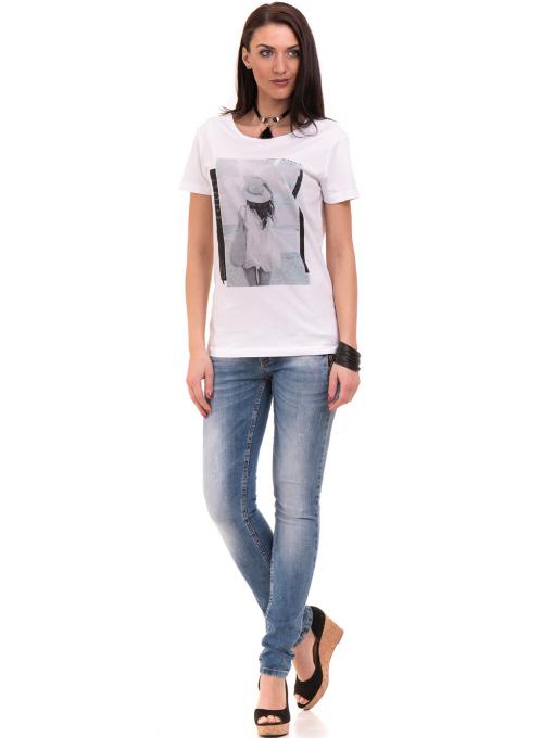 Дамска тениска с щампа VIGOSS 11184 - бяла C