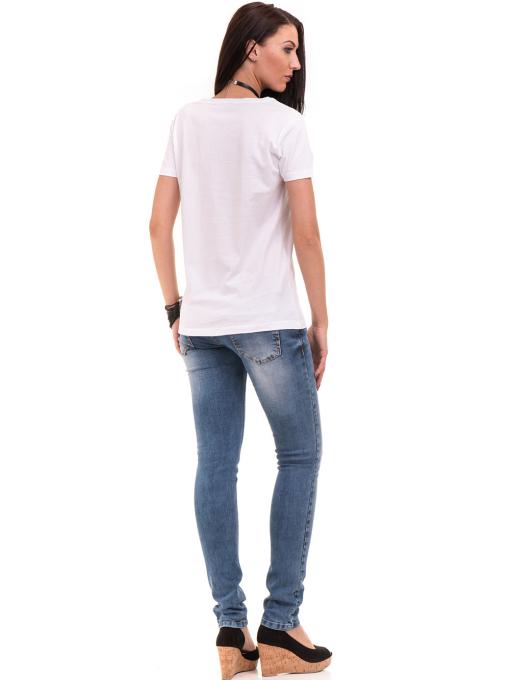 Дамска тениска с щампа VIGOSS 11184 - бяла E