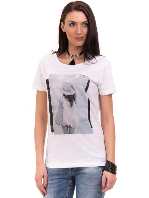 Дамска тениска с щампа VIGOSS 11184 - бяла