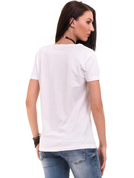 Дамска тениска с щампа VIGOSS 11184 - бяла B