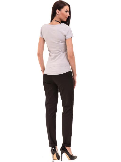 Дамска вталена тениска VIGOSS 11268 - светло сива E