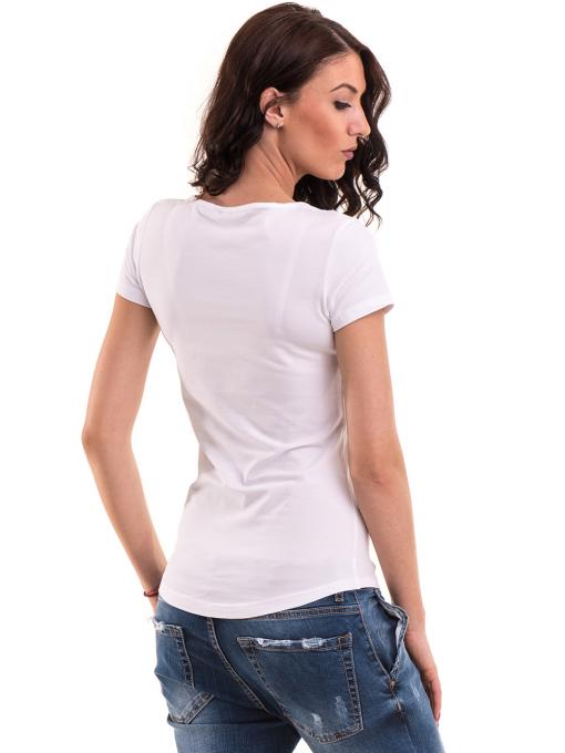 Дамска вталена тениска VIGOSS 11268 - бяла B