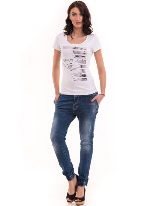 Дамска вталена тениска VIGOSS 11268 - бяла C