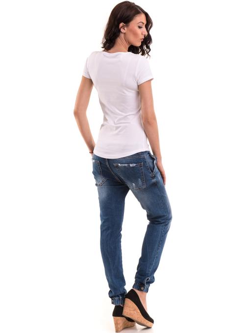 Дамска вталена тениска VIGOSS 11268 - бяла E