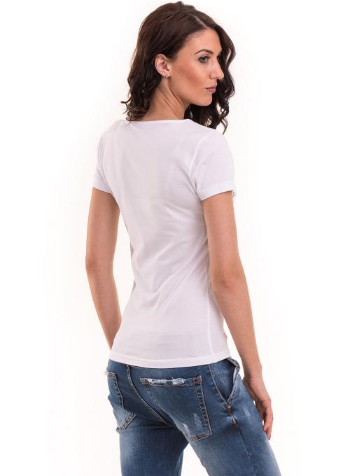 Дамска тениска VIGOSS с надпис 11269 - бяла B