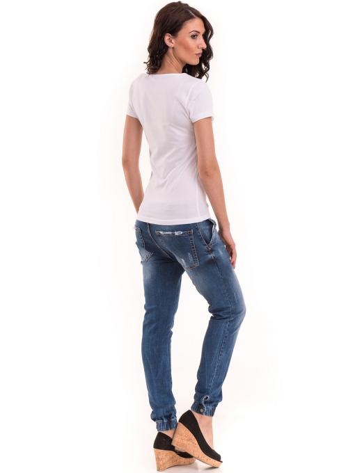 Дамска тениска VIGOSS с надпис 11269 - бяла E