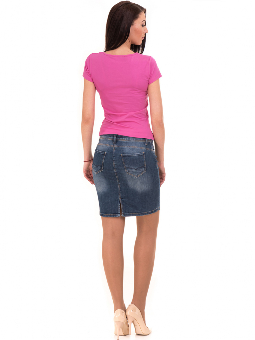 Дамска тениска VIGOSS с надпис 11269- тъмно розова E