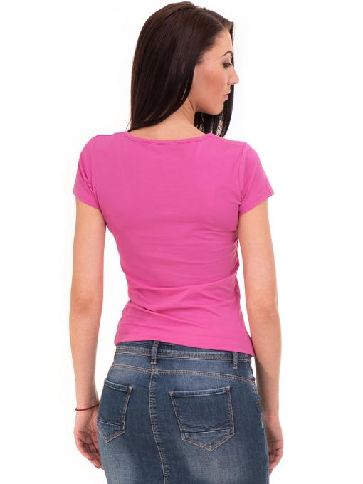 Дамска тениска VIGOSS с надпис 11269- тъмно розова B