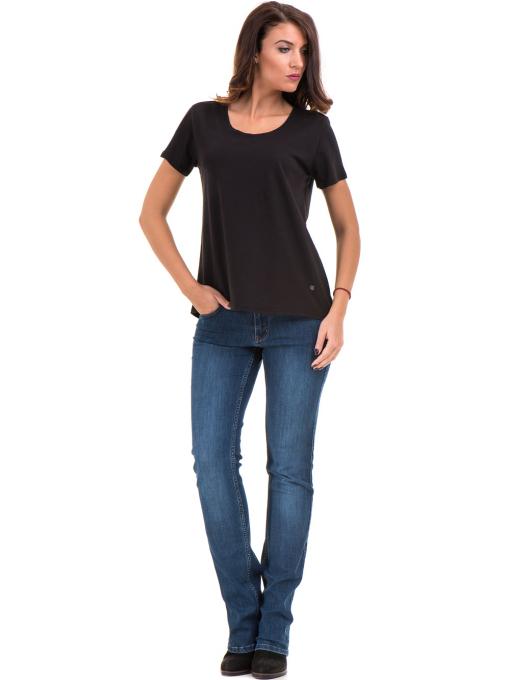 Дамска свободна тениска XINT 095 - черна C