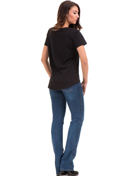 Дамска свободна тениска XINT 095 - черна E