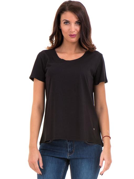 Дамска свободна тениска XINT 095 - черна