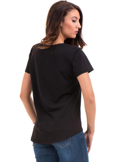Дамска свободна тениска XINT 095 - черна B