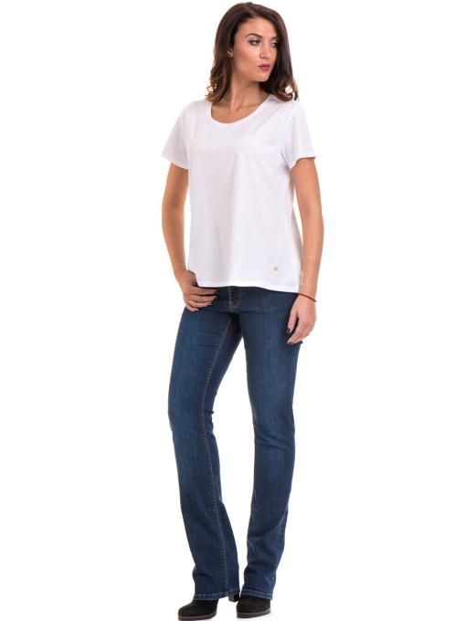 Дамска свободна блуза XINT 095- бяла C