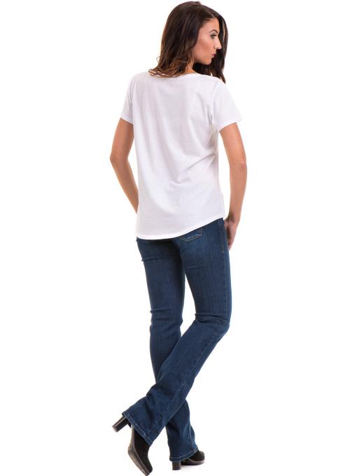 Дамска свободна блуза XINT 095- бяла E