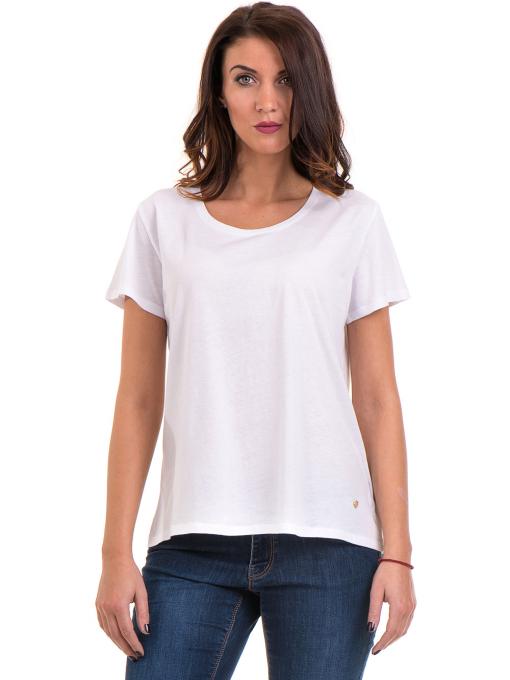Дамска свободна блуза XINT 095- бяла
