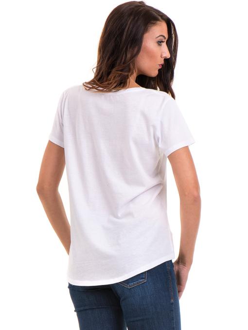 Дамска свободна блуза XINT 095- бяла B