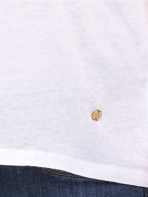 Дамска свободна блуза XINT 095- бяла D