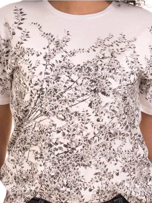 Дамска тениска с обло деколте XINT 1044 - бяла D