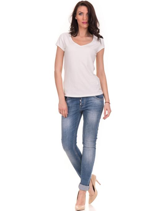 Дамска едноцветна тениска XINT 174 - екрю C2