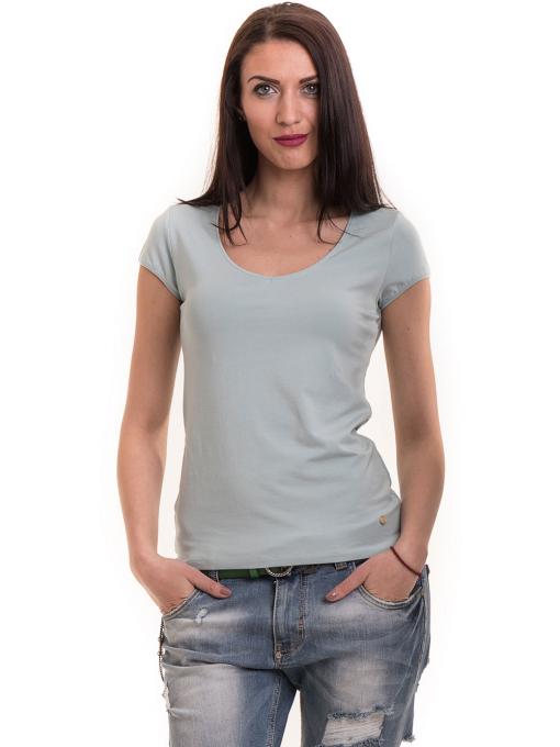 Дамска едноцветна тениска XINT 174 - зелена