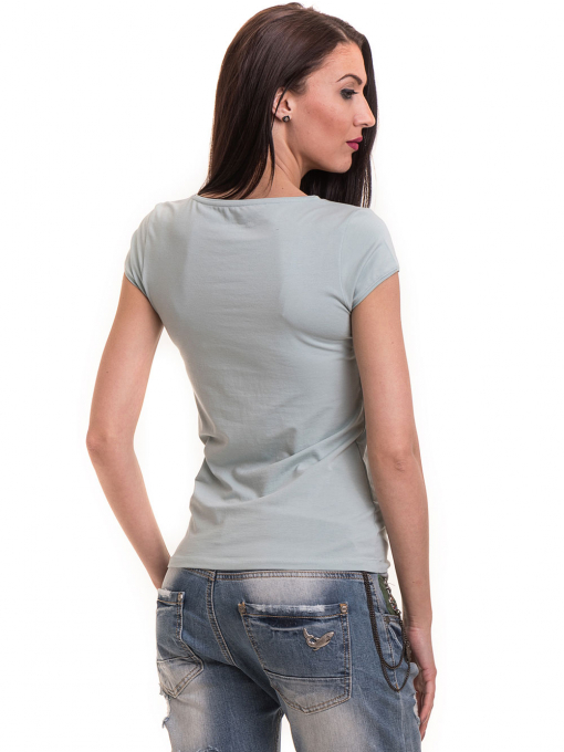 Дамска едноцветна тениска XINT 174 - зелена B