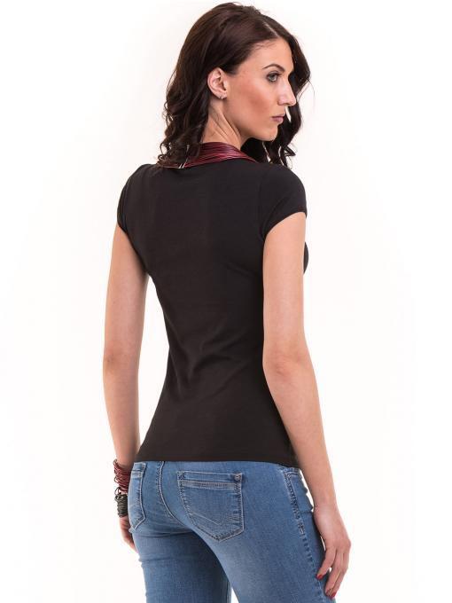 Дамска едноцветна тениска XINT 174 - черна B
