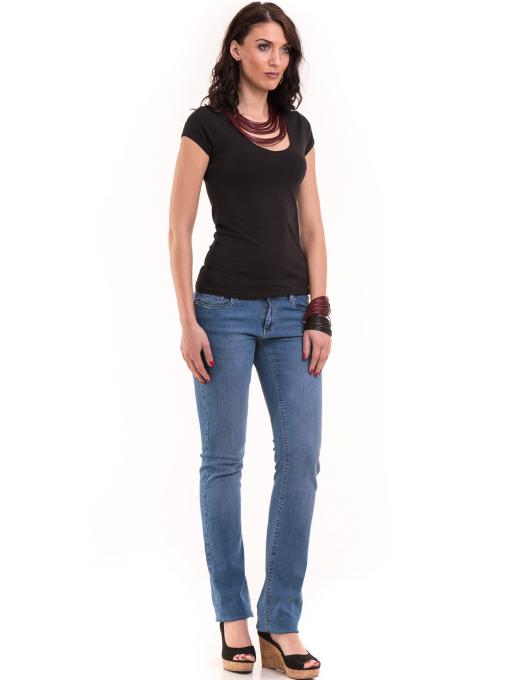 Дамска едноцветна тениска XINT 174 - черна C