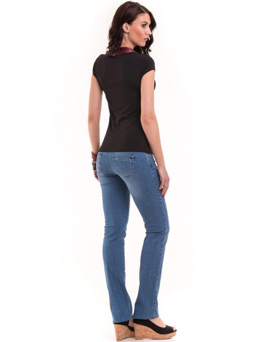 Дамска едноцветна тениска XINT 174 - черна E