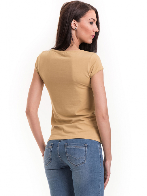 Дамска едноцветна тениска XINT 174 - цвят горчица B