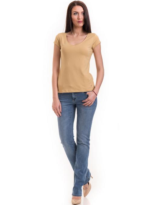 Дамска едноцветна тениска XINT 174 - цвят горчица C