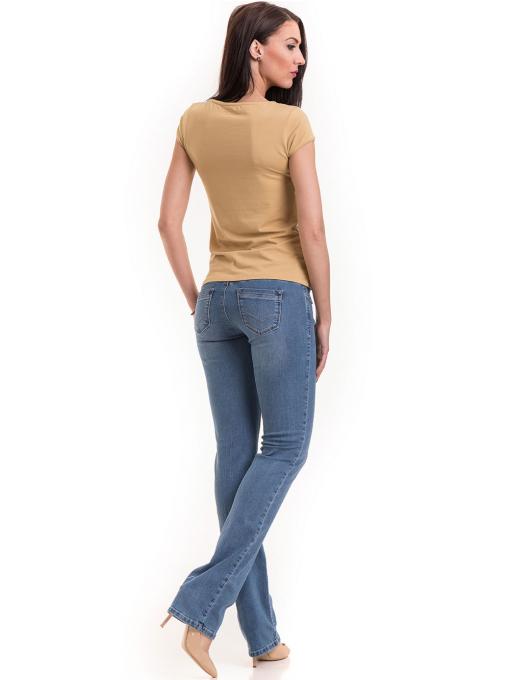 Дамска едноцветна тениска XINT 174 - цвят горчица E