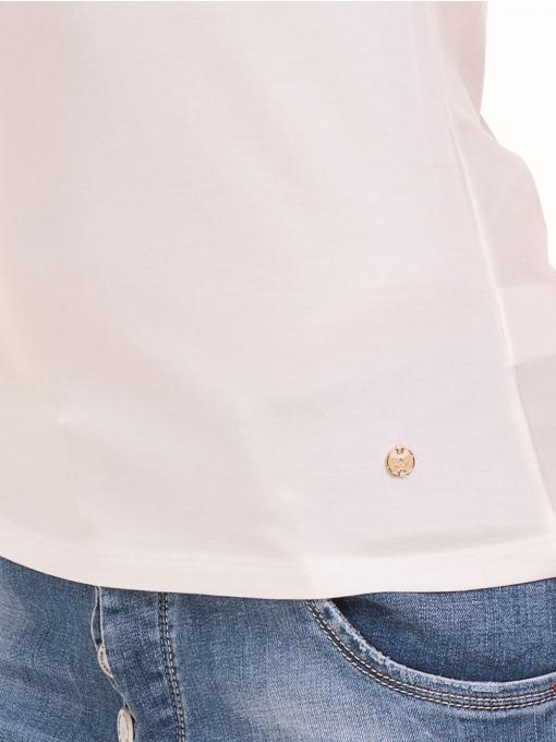 Дамска едноцветна тениска XINT 175 - екрю D