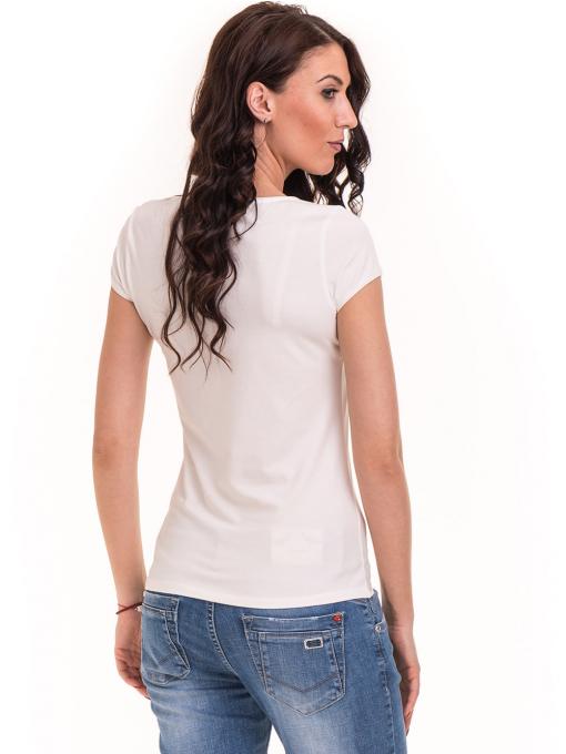 Дамска едноцветна тениска XINT 175 - екрю B