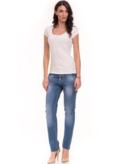 Дамска едноцветна тениска XINT 175 - екрю C