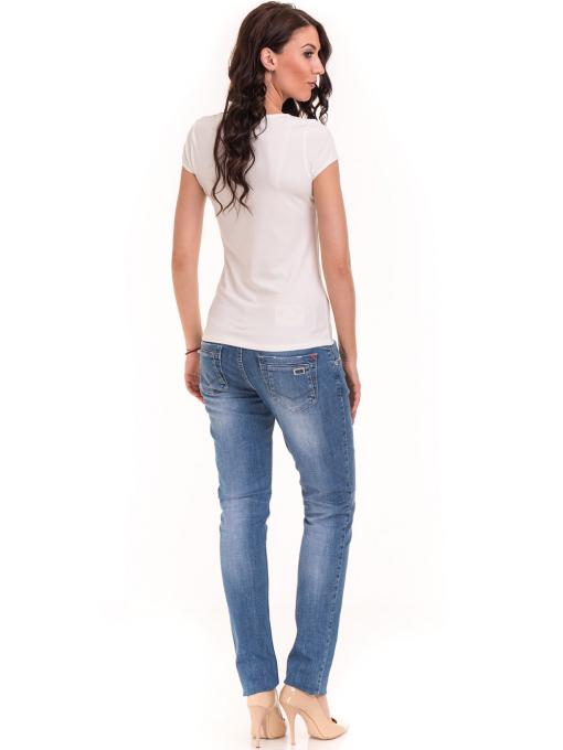 Дамска едноцветна тениска XINT 175 - екрю E