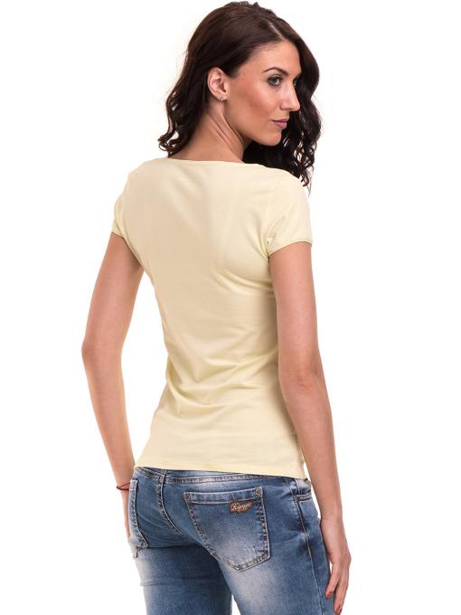 Дамска едноцветна тениска XINT 175 - жълтозелена B
