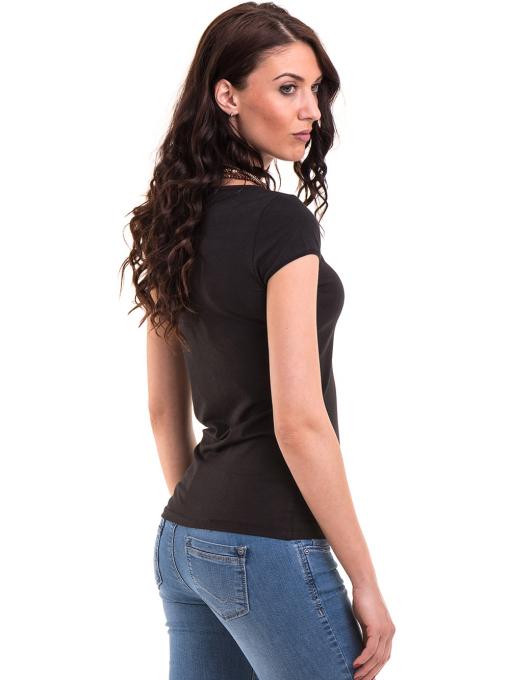 Дамска едноцветна тениска XINT 175 - черна B