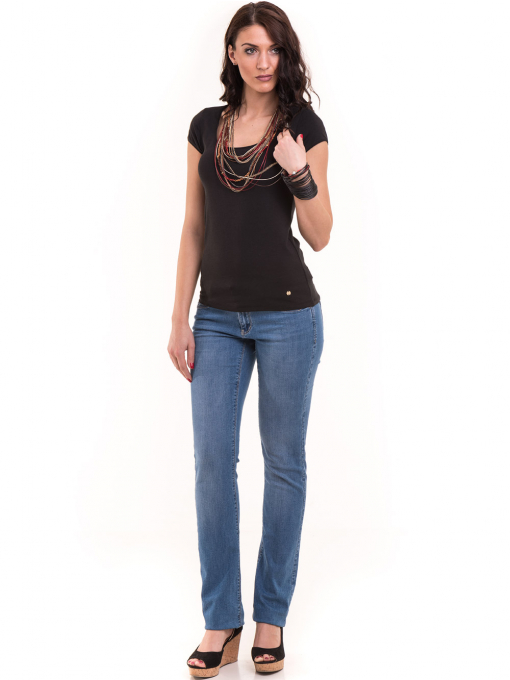 Дамска едноцветна тениска XINT 175 - черна C