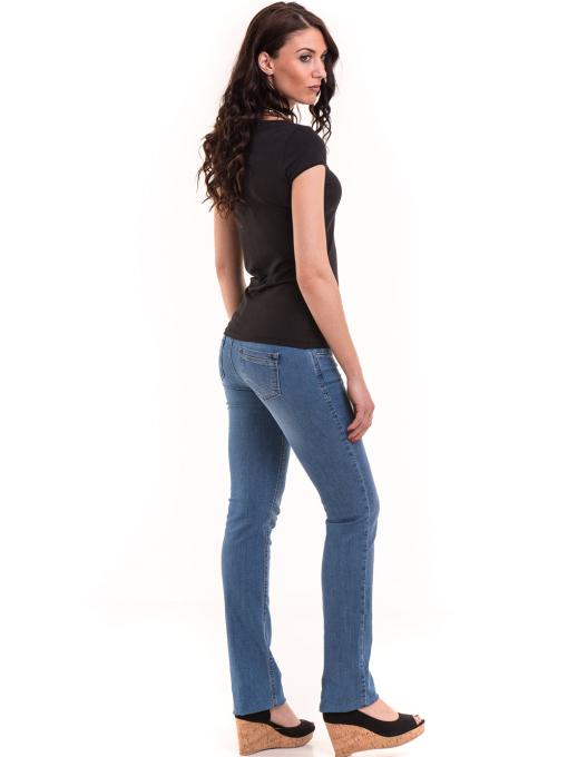 Дамска едноцветна тениска XINT 175 - черна E