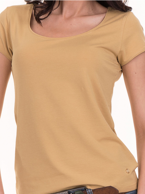 Дамска едноцветна тениска XINT 175 - цвят горчица D