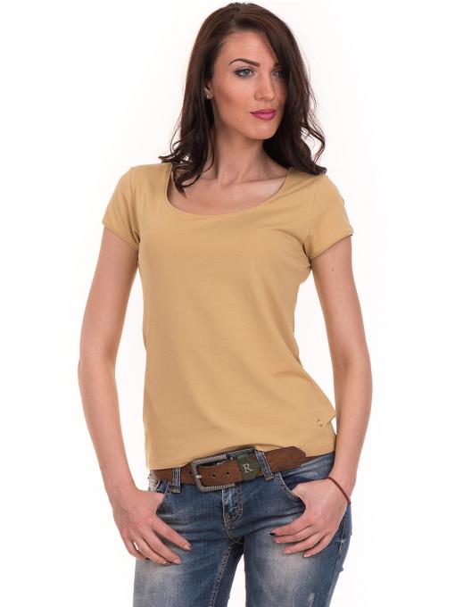 Дамска едноцветна тениска XINT 175 - цвят горчица