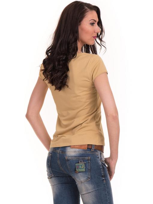 Дамска едноцветна тениска XINT 175 - цвят горчица B