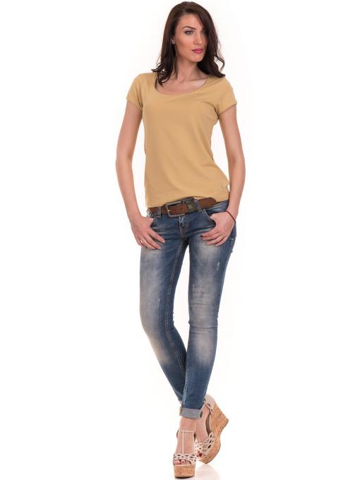 Дамска едноцветна тениска XINT 175 - цвят горчица C