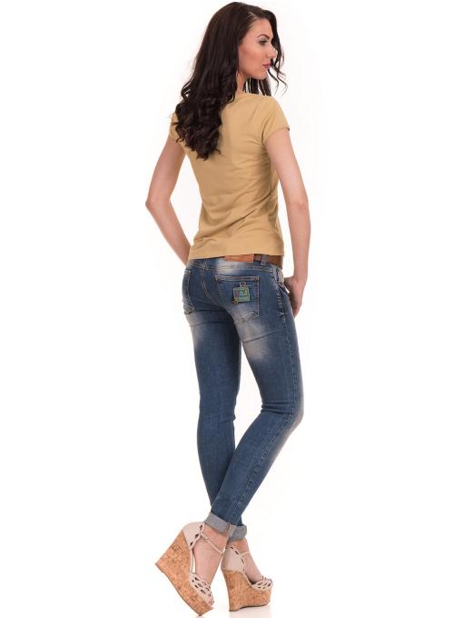 Дамска едноцветна тениска XINT 175 - цвят горчица E